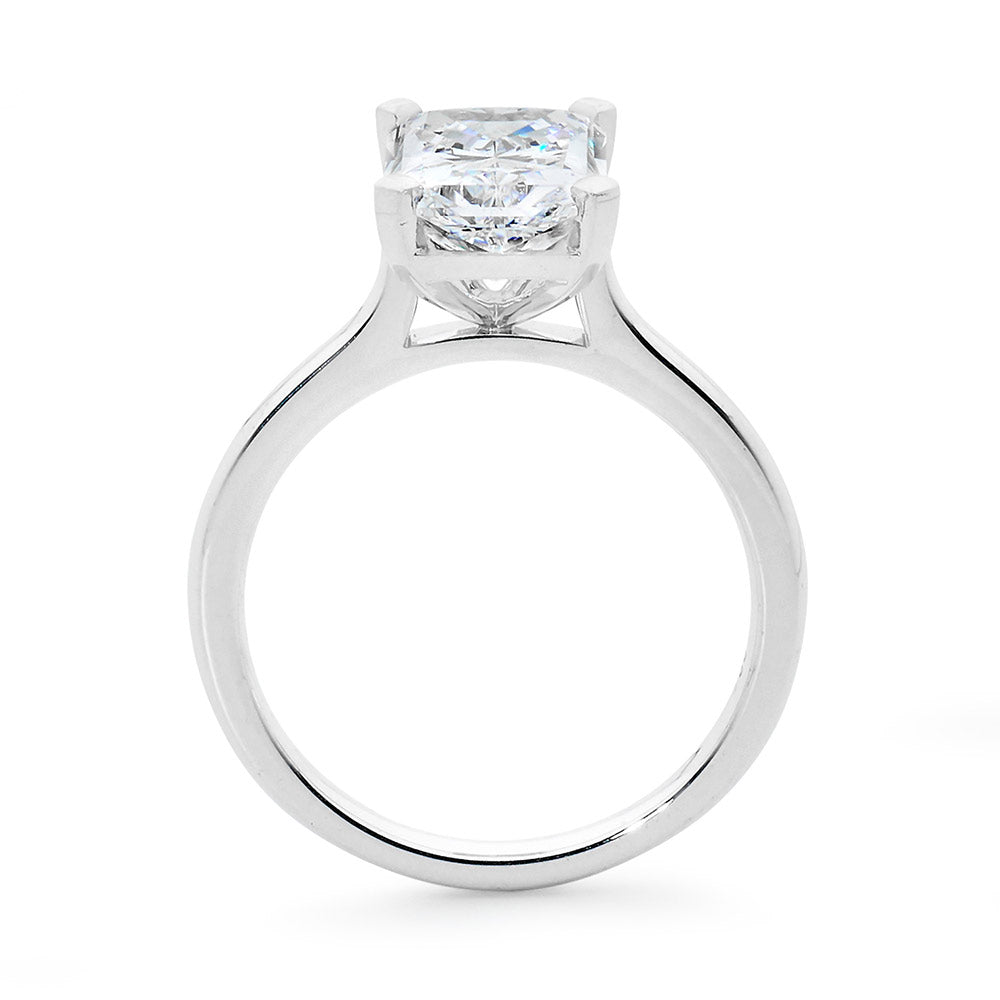 Radiant Cut Solitaire Diamond Ring