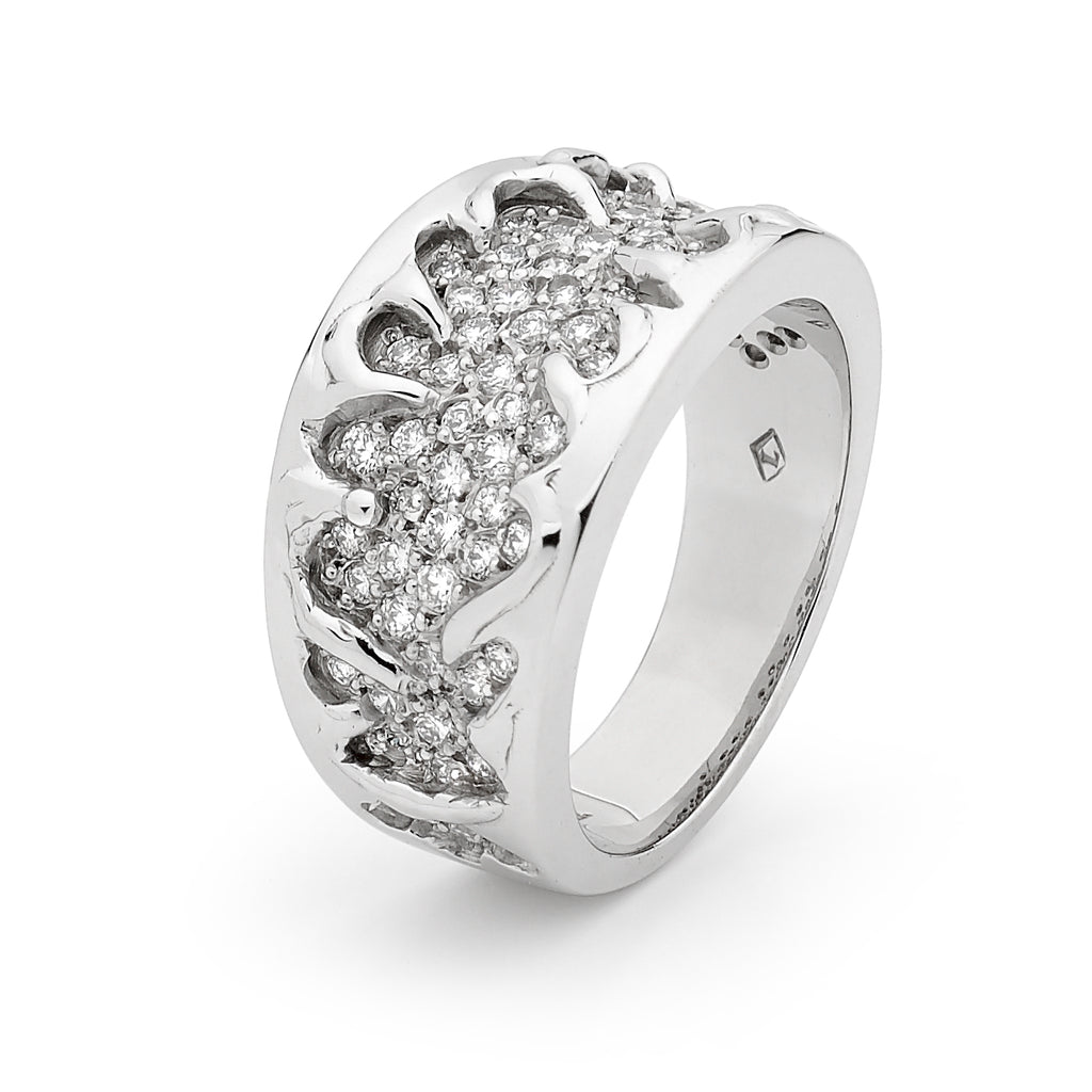 White Gold Dress Diamond Ring