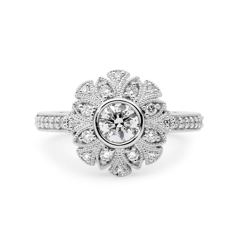 Floral Diamond Ring online jewellery shop perth jewellery stores jewellery stores perth australian jewellery designers bridal jewellery australia diamonds perth diamond rings perth designer engagement rings engagement rings perth diamond engagement rings