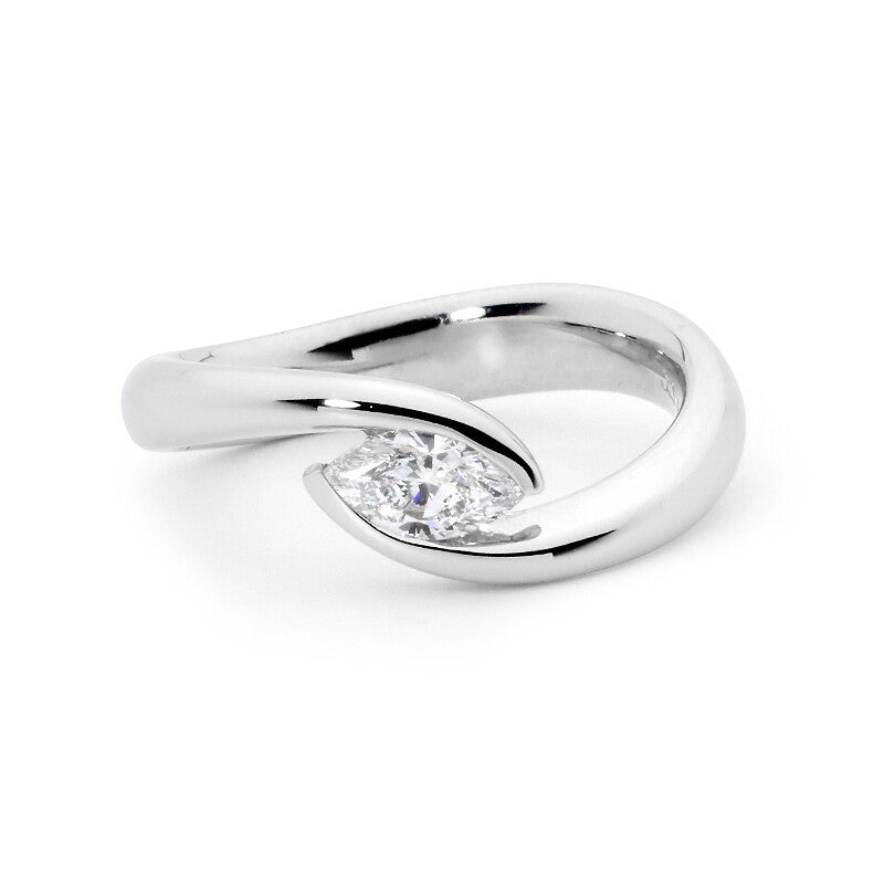 Minimalist Maquise Diamond ring