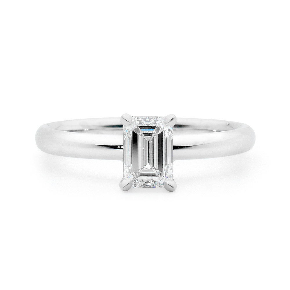 Emerald Cut Solitaire Diamond Ring online jewellery shop perth jewellery stores jewellery stores perth australian jewellery designers bridal jewellery australia diamonds perth diamond rings perth designer engagement rings engagement rings perth diamond engagement rings