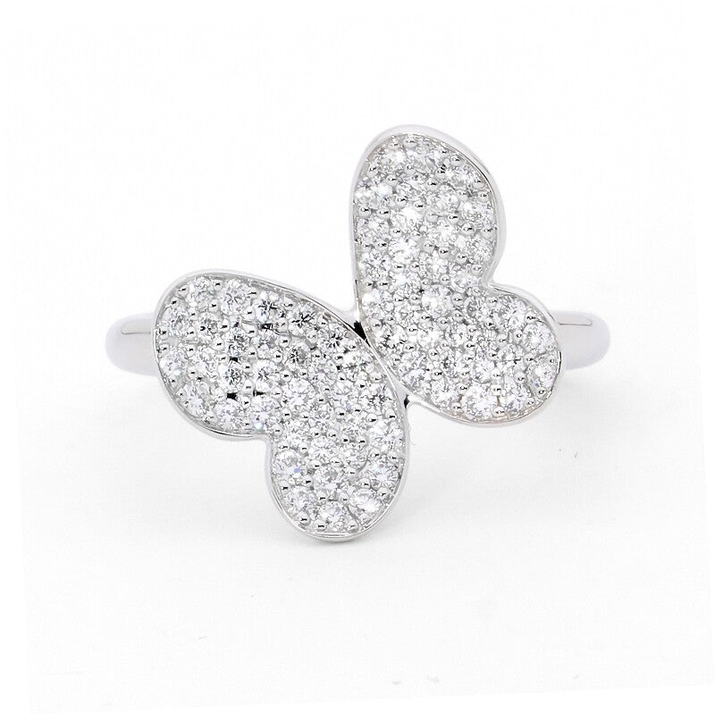 Pave Butterfly Ring