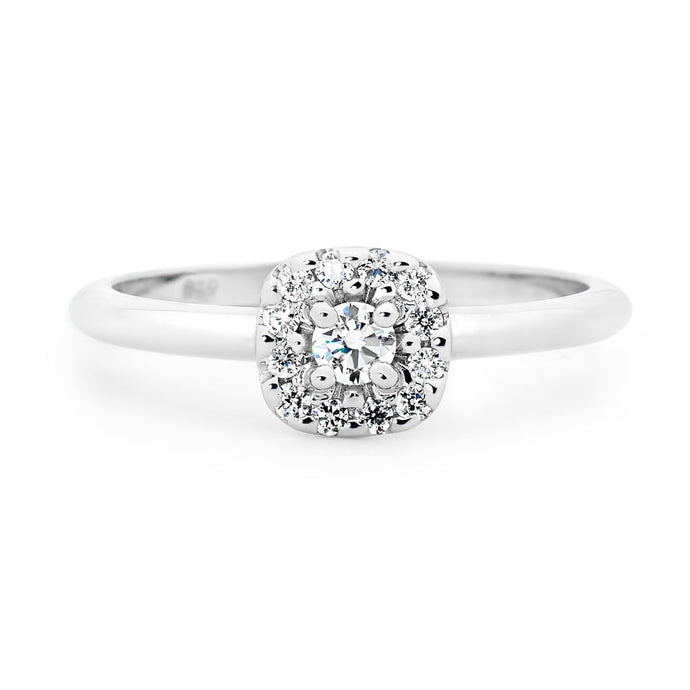 Diamond Cluster White Gold Rings Perth