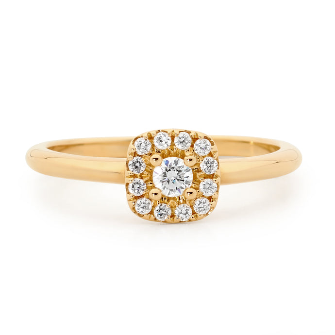 Diamond Cluster Dress Ring