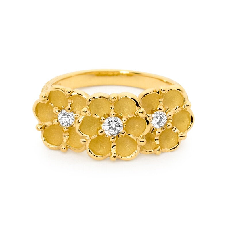 Gold Coastal Flower Rings Perth