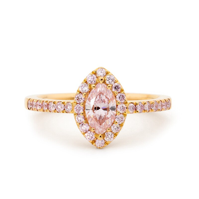 Fancy Pink Marchioness Diamond Ring