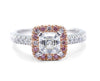 Royal Asscher cut pink diamond ring