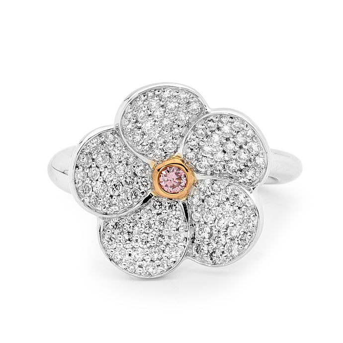 Pink Diamond Flower Ring jewellery stores perth perth jewellery stores australian jewellery designers online jewellery shop perth jewellery shop jewellery shops perth perth jewellers jewellery perth jewellers in perth diamond jewellers perth bridal jewellery australia pearl jewellery australian pearls diamonds and pearls perth