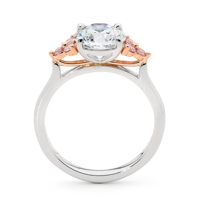 Trefoil Pink Diamond Ring