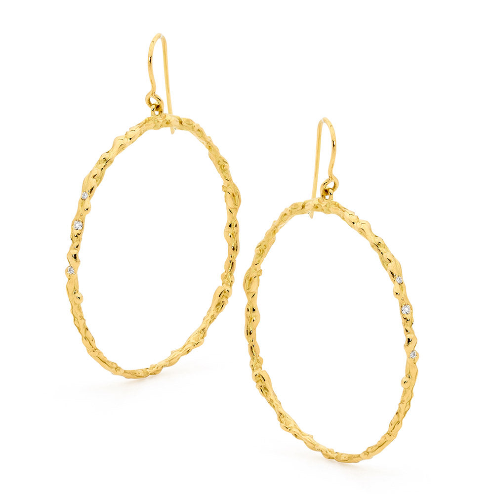 Freeform Textured Hoop Earrings online jewellery shop buy jewellery online jewellers in perth perth jewellery stores wedding jewellery australia