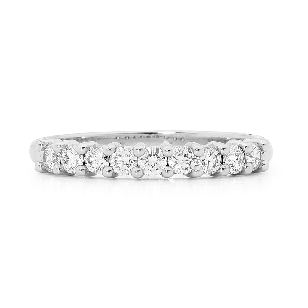 Shared claw set diamond ring
