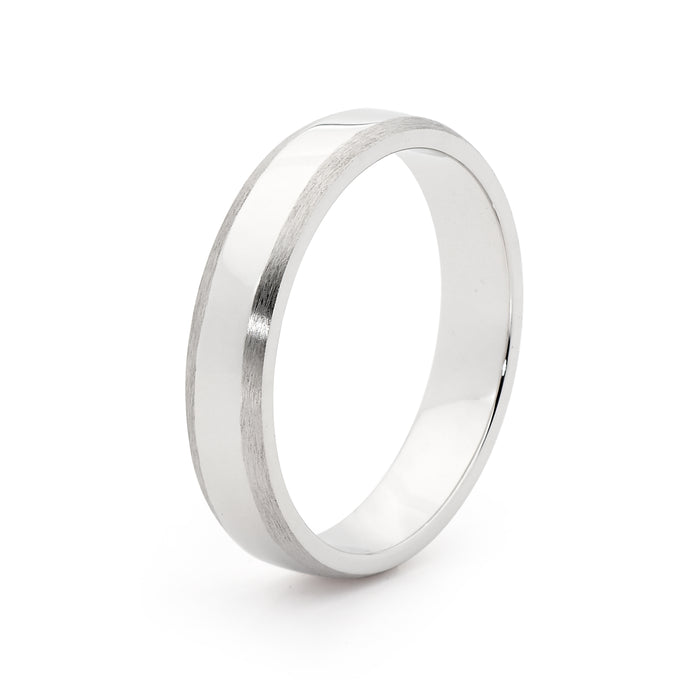White gold men's ring