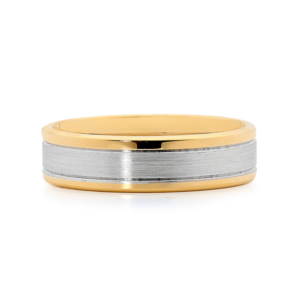 Gold mens ring
