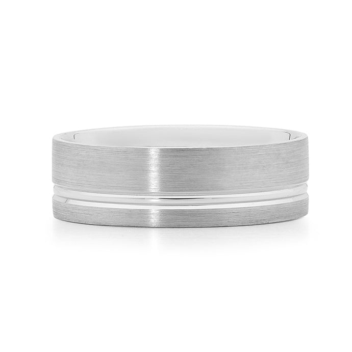 white gold men's wedding ring Perth