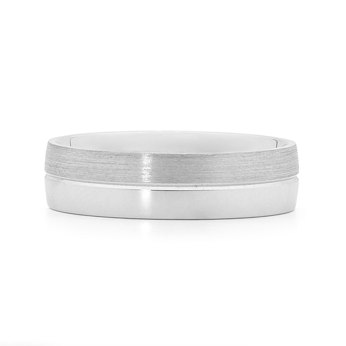 white gold men's wedding ring