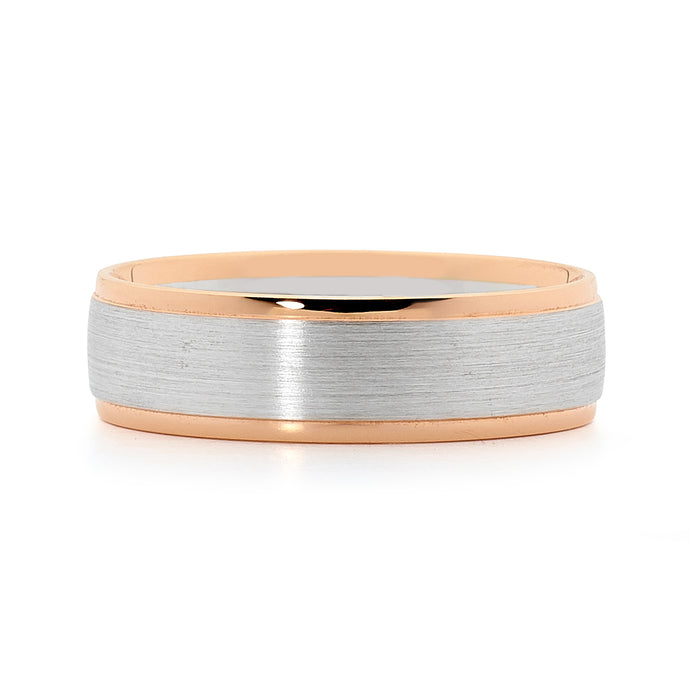 18ct White and Rose Gold Men's Ring