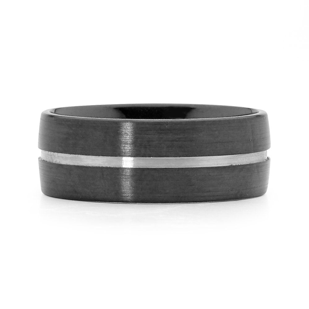 Recessed Groove Zirconium Men's Ring mens rings mens wedding rings jewellery stores perth perth jewellery stores australian jewellery designers online jewellery shop perth jewellery shop jewellery shops perth perth jewellers jewellery perth jewellers in perth