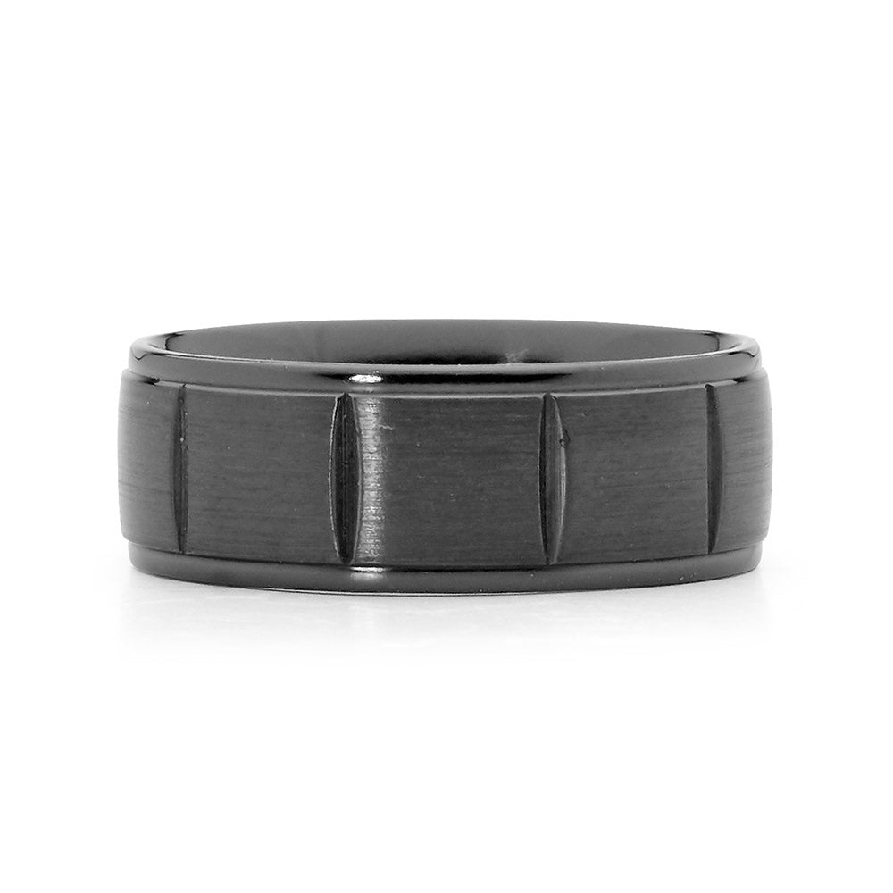 Faceted Zirconium Men's Ring