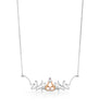 18ct white and rose gold diamond necklet