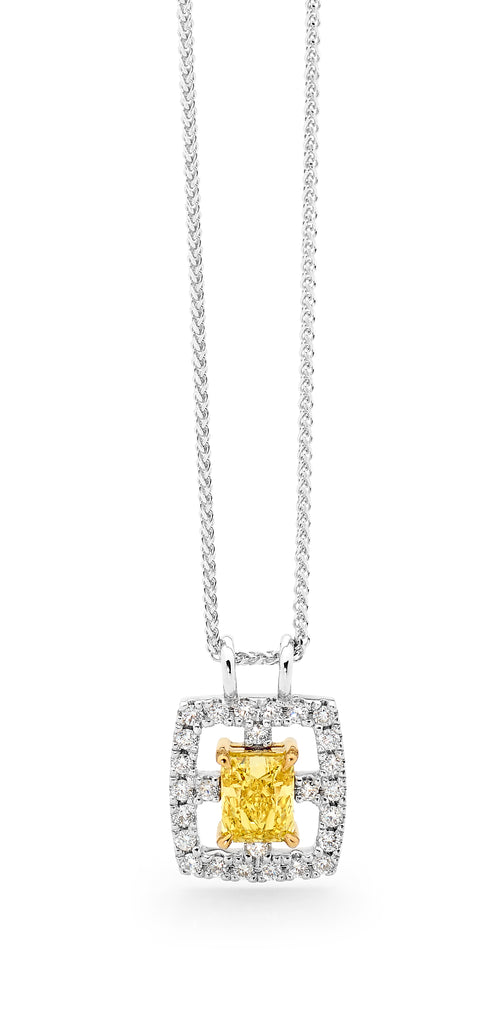 Modern Yellow Diamond Pendant