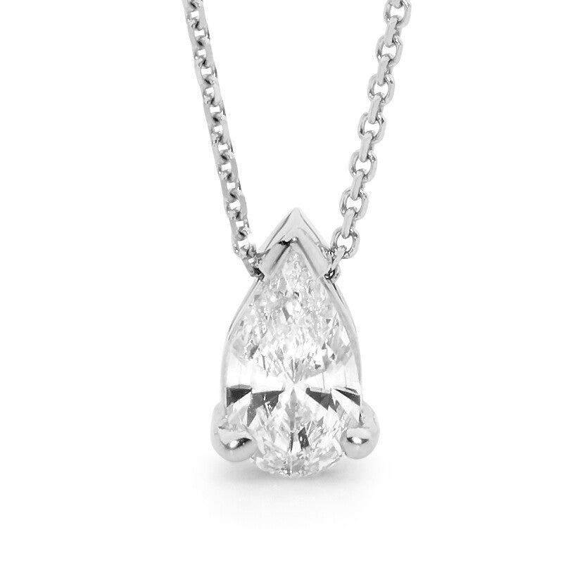Pear Shaped Solitaire Diamond Pendant