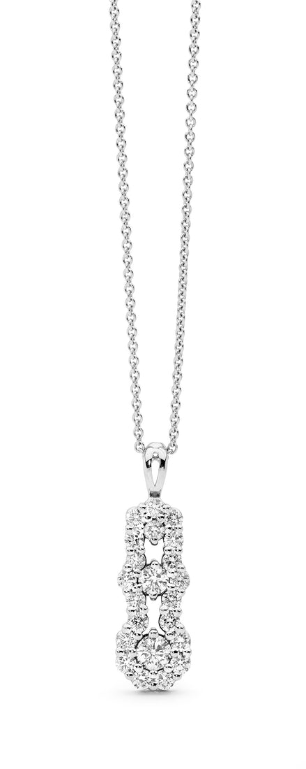 Triple Cluster Diamond Pendant