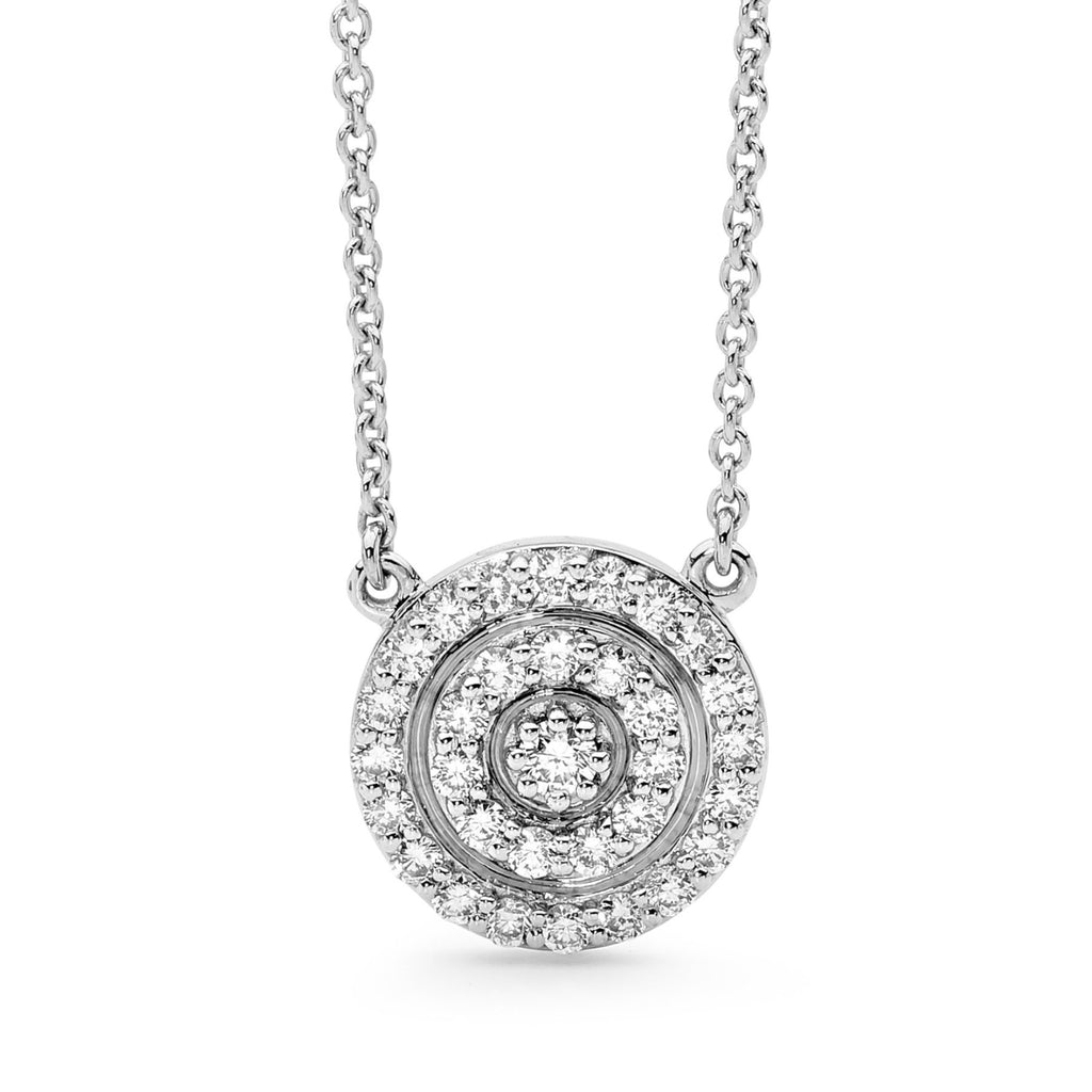 Double Halo Diamond Necklace perth jewellery stores jewellery stores perth australian jewellery designers bridal jewellery australia diamonds perth