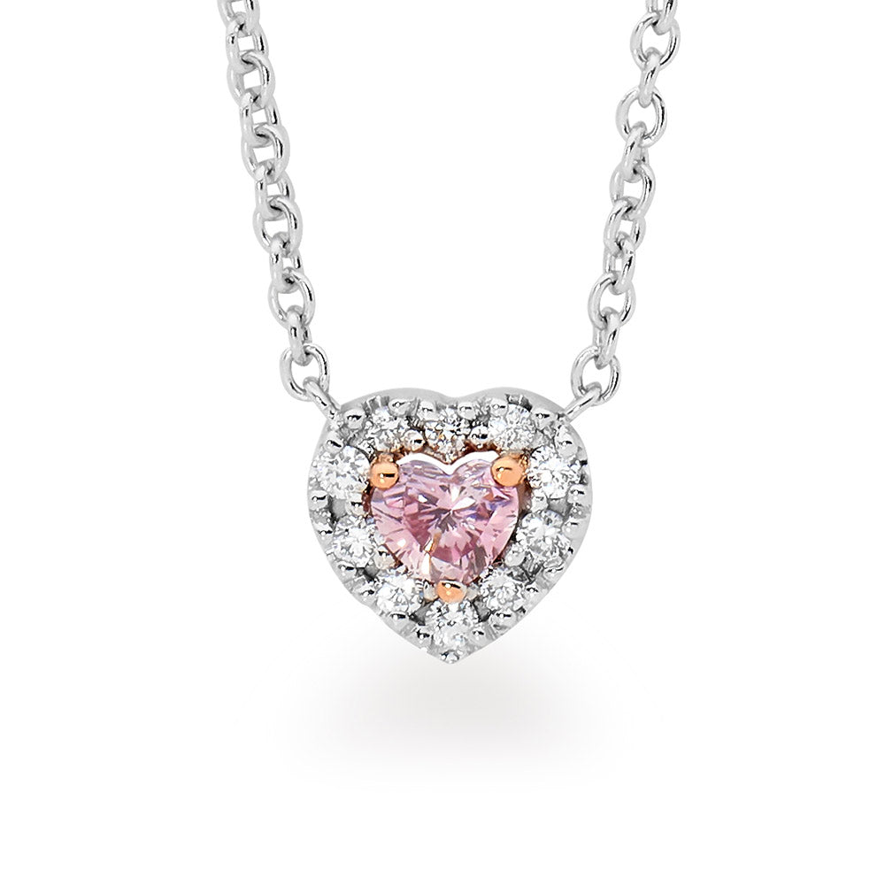 Love Heart Pink Diamond Necklace online jewellery shop buy jewellery online jewellers in perth perth jewellery stores wedding jewellery australia diamonds for sale perth gold jewellery perth