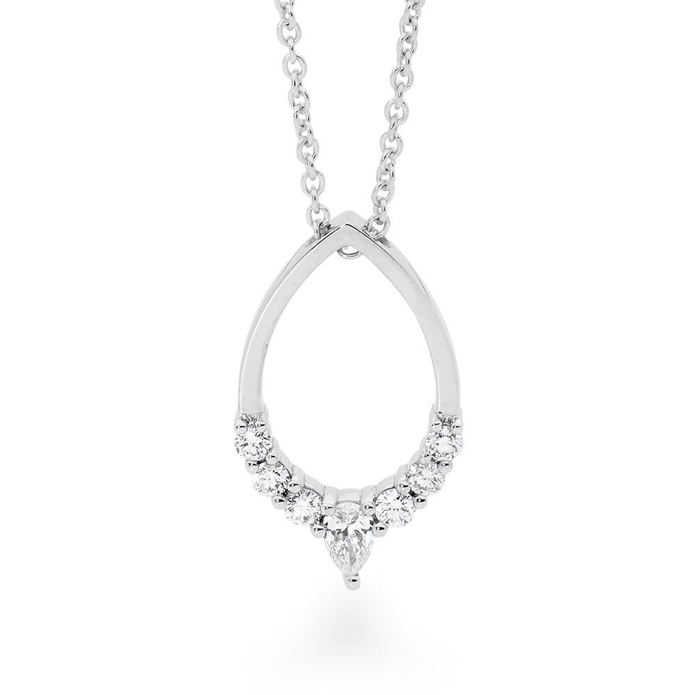 Pear Shaped Diamond Necklace jewellery stores perth perth jewellery stores australian jewellery designers online jewellery shop perth jewellery shop jewellery shops perth perth jewellers jewellery perth jewellers in perth diamond jewellers perth