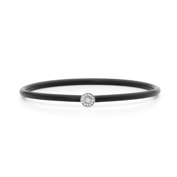 Halo Diamond Neoprene Bangle online jewellery shop buy jewellery online jewellers in perth perth jewellery stores wedding jewellery australia diamonds perth