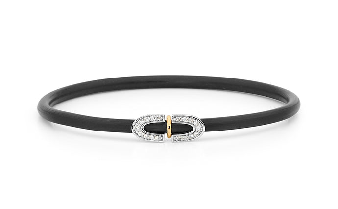 two-tone diamond bangle