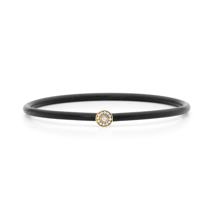Halo Diamond Neoprene Bangle