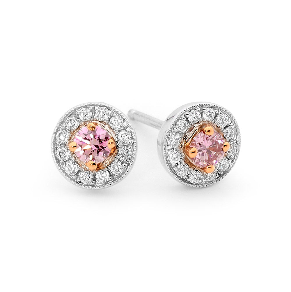 Pink and White Diamond Stud Earrings jewellery stores perth perth jewellery stores australian jewellery designers online jewellery shop perth jewellery shop jewellery shops perth perth jewellers jewellery perth jewellers in perth diamond jewellers perth bridal jewellery australia pearl jewellery australian pearls diamonds and pearls perth