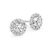 18ct White Gold Round Centre Diamond Stud Earrings