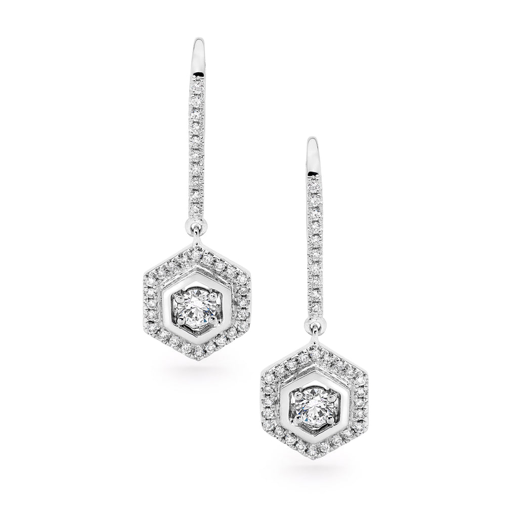 White Gold Hexagon Diamond Earrings Perth jewellery stores perth perth jewellery stores australian jewellery designers online jewellery shop perth jewellery shop jewellery shops perth perth jewellers jewellery perth jewellers in perth diamond jewellers perth bridal jewellery australia pearl jewellery australian pearls diamonds and pearls perth