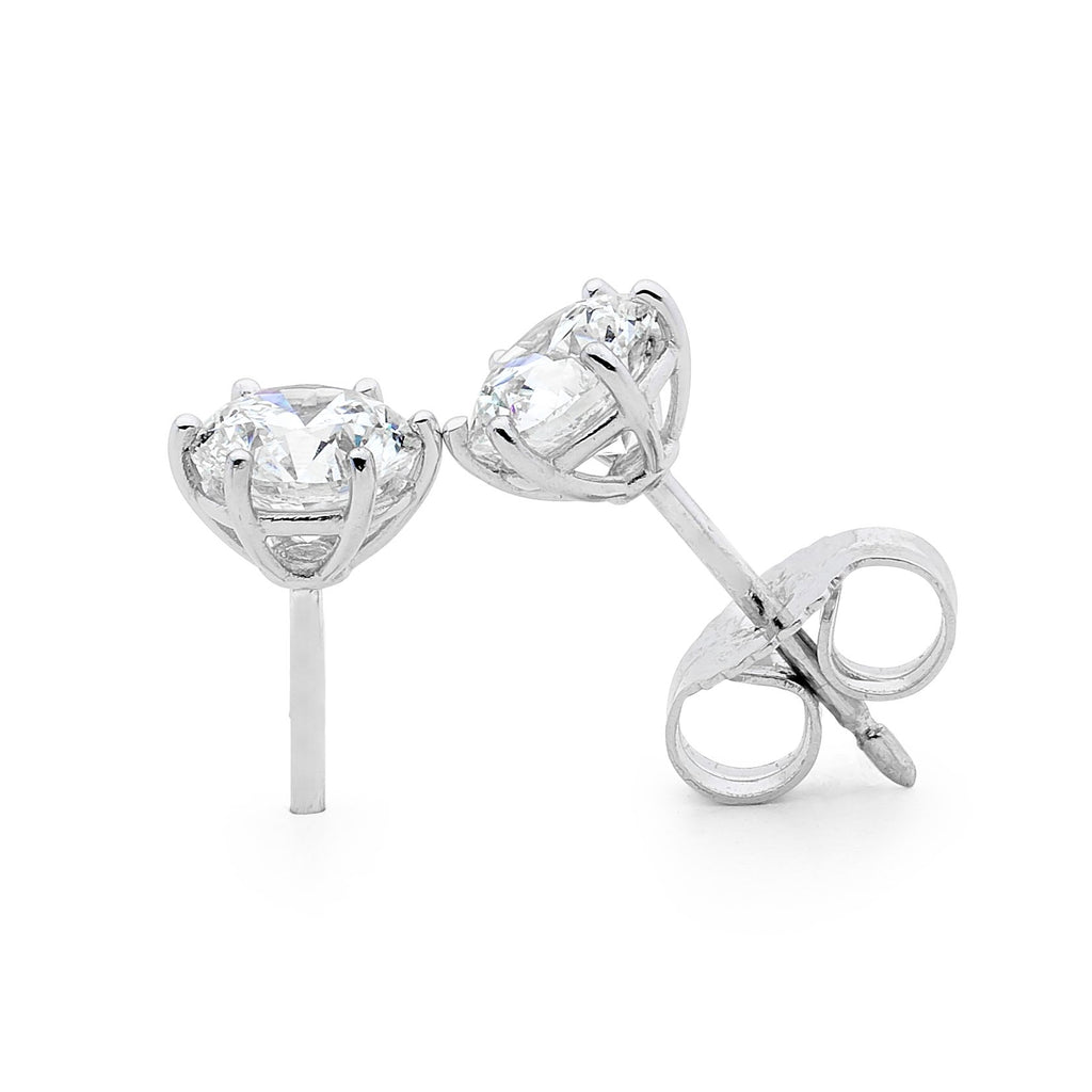 18ct White Gold and Diamond Earrings