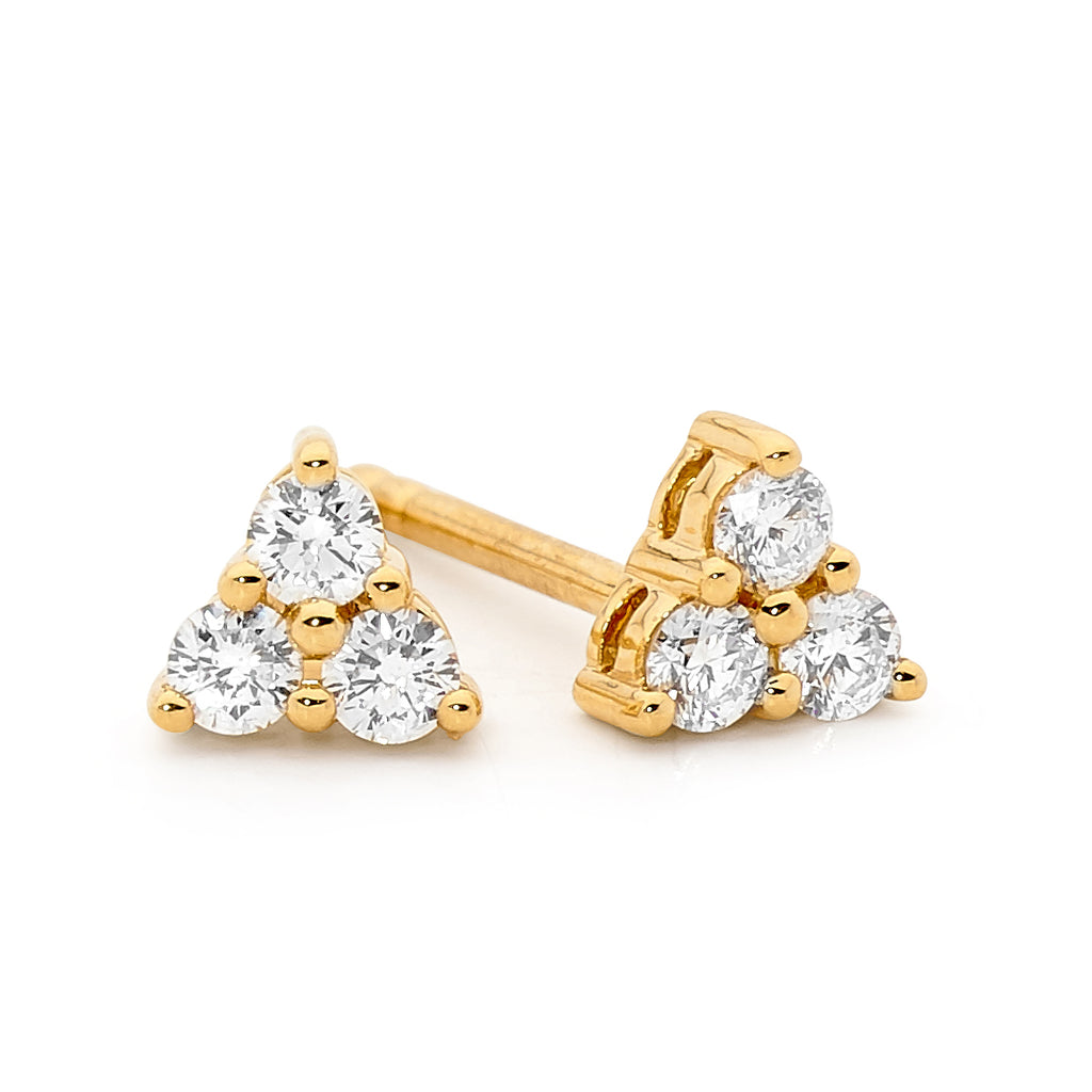 18ct Gold and Diamond Earrings