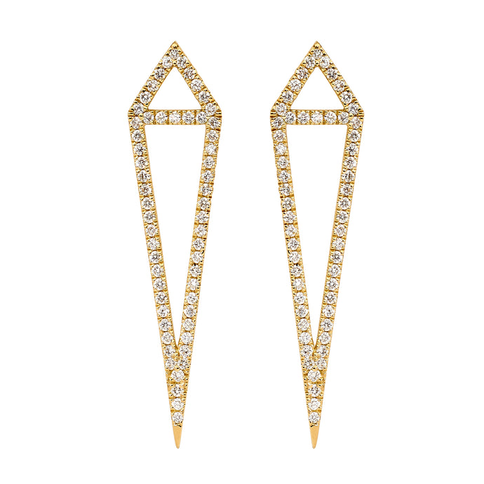 Diamond Kite Earrings White Gold Diamond Earrings