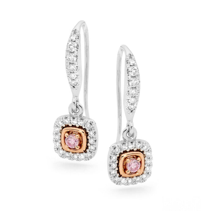 Argyle Pink Diamond and White Diamond Earrings