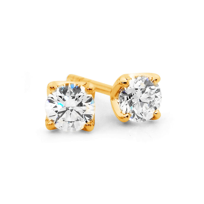 Four claw diamond stud earrings perth jewellery stores jewellery stores perth australian jewellery designers bridal jewellery australia diamonds perth