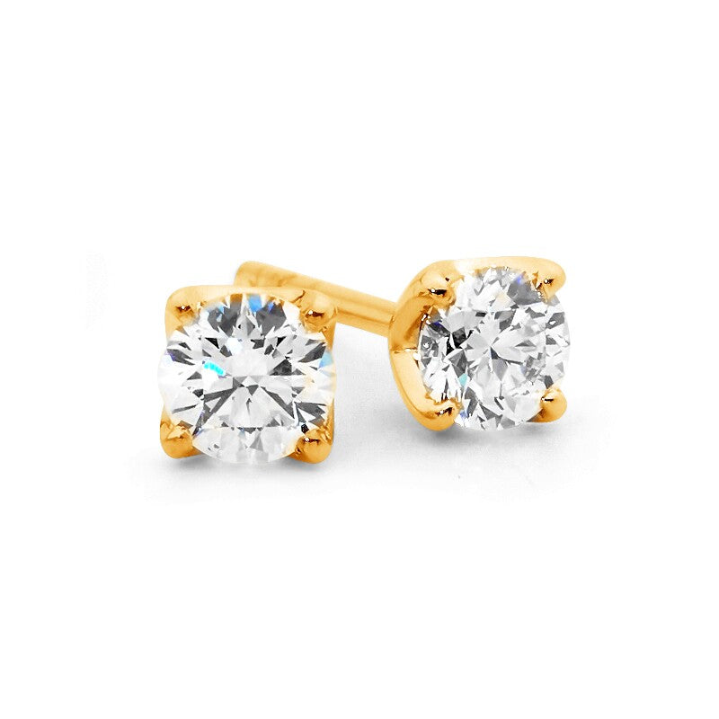 Cardinal Point Diamond Stud Earrings