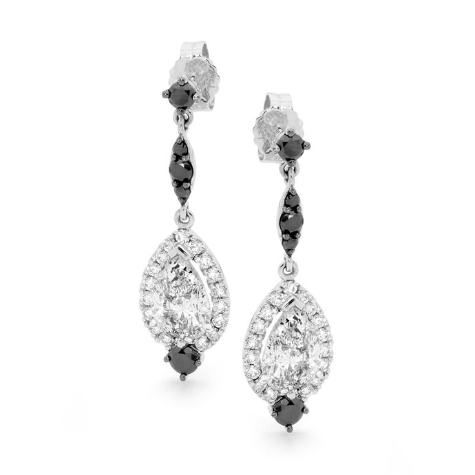 Midnight Diamond Earrings
