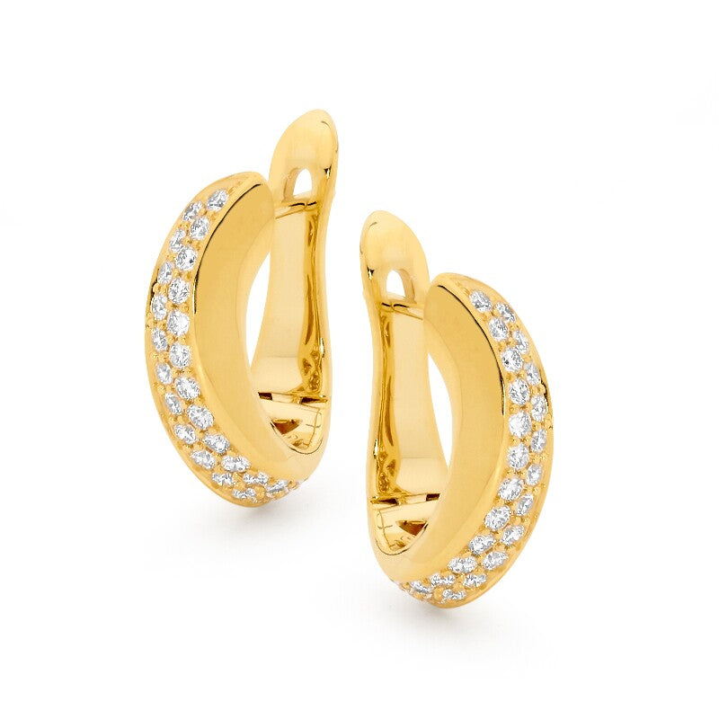 Huggie Earrings online jewellery shop buy jewellery online jewellers in perth perth jewellery stores wedding jewellery australia gold jewellery perth  diamond stud earrings diamonds perth gold jewellery perth