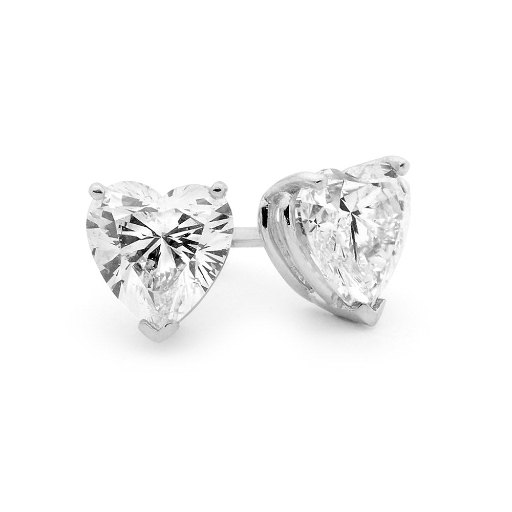 Heart Shaped Diamond Stud Earrings buy jewellery online jewellers in perth perth jewellery stores wedding jewellery australia  diamond stud earrings diamonds perth