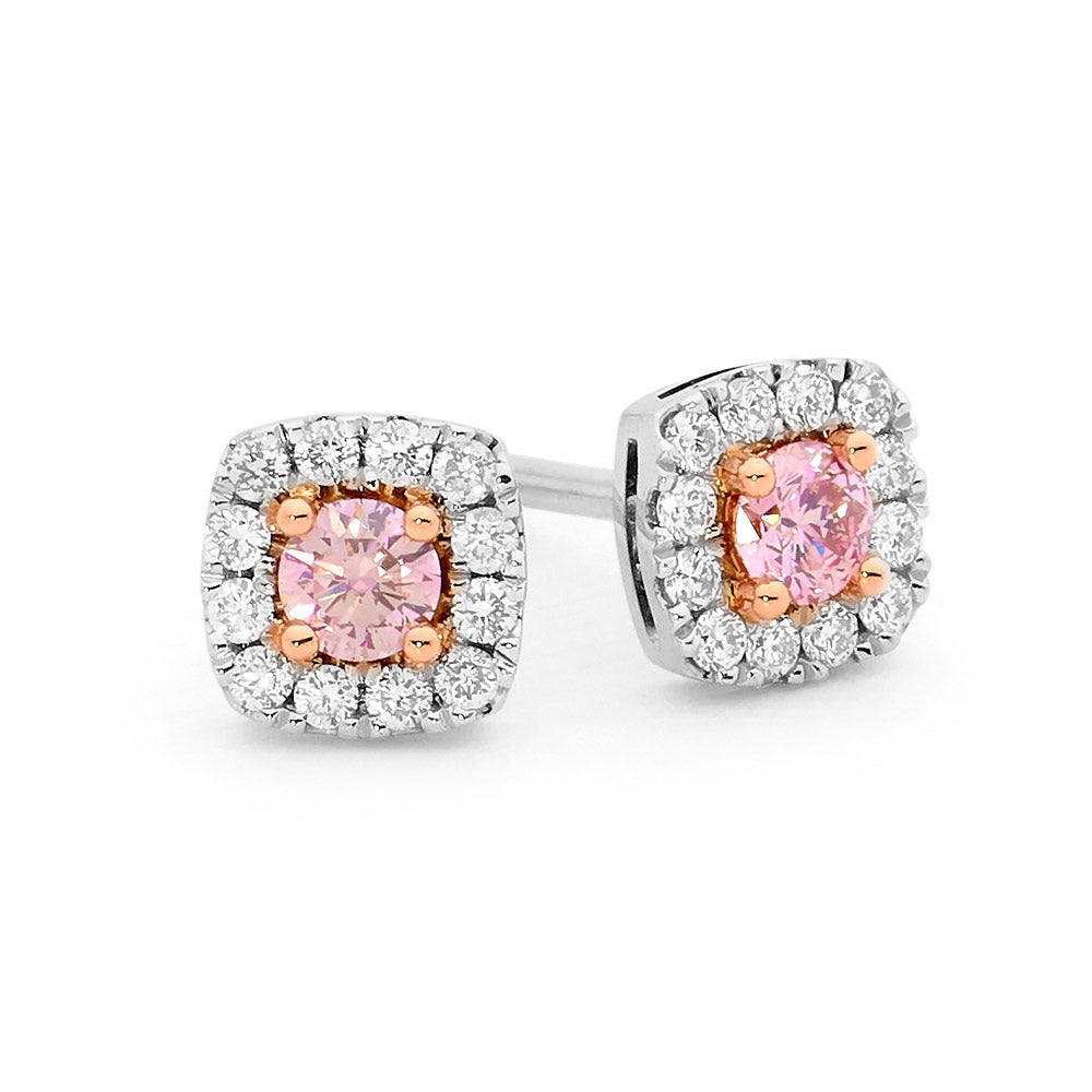 Cushion Shaped Pink Diamond White Gold Diamond Earrings jewellery stores perth perth jewellery stores australian jewellery designers online jewellery shop perth jewellery shop jewellery shops perth perth jewellers jewellery perth jewellers in perth diamond jewellers perth bridal jewellery australia