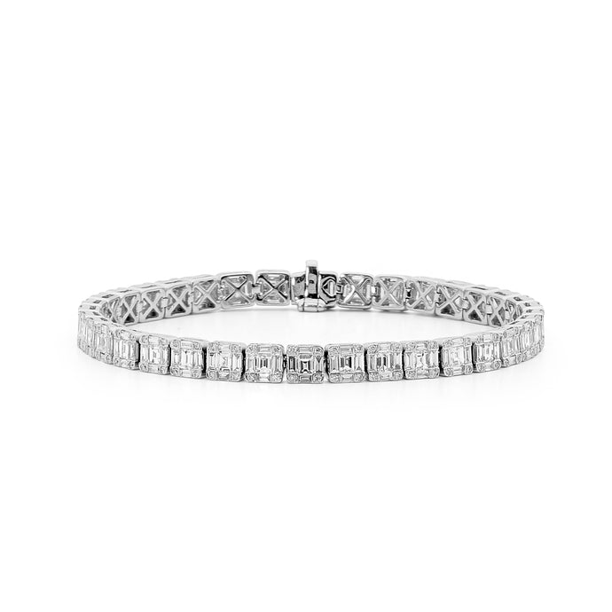 18ct White Gold and Diamond Bracelet
