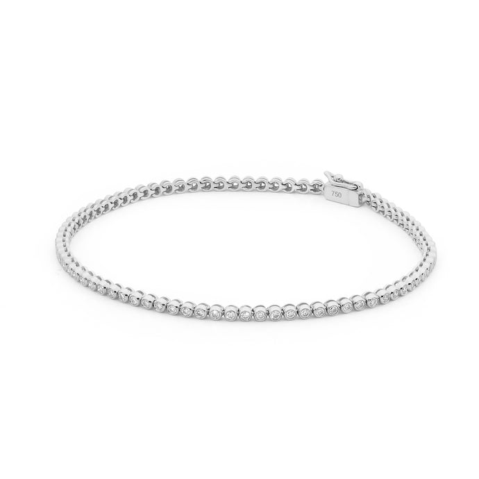 Bezel Set 1.00ct Diamond Tennis Bracelet