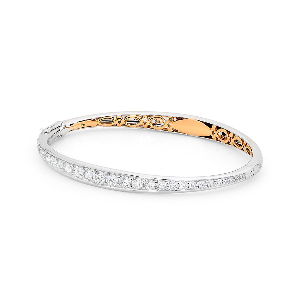 Two Tone Diamond Bangle jewellery stores perth perth jewellery stores australian jewellery designers online jewellery shop perth jewellery shop jewellery shops perth perth jewellers jewellery perth jewellers in perth diamond jewellers perth bridal jewellery australia pearl jewellery australian pearls diamonds and pearls perth