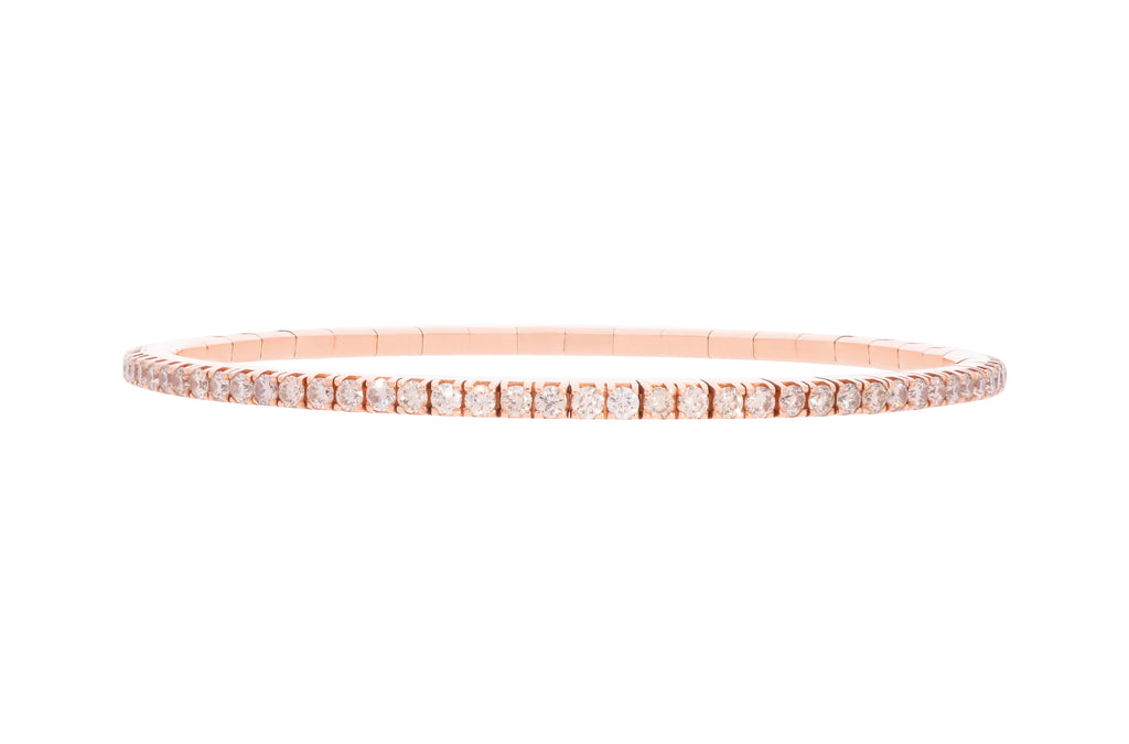 Expandable Golden Diamond Rose Gold Bracelet