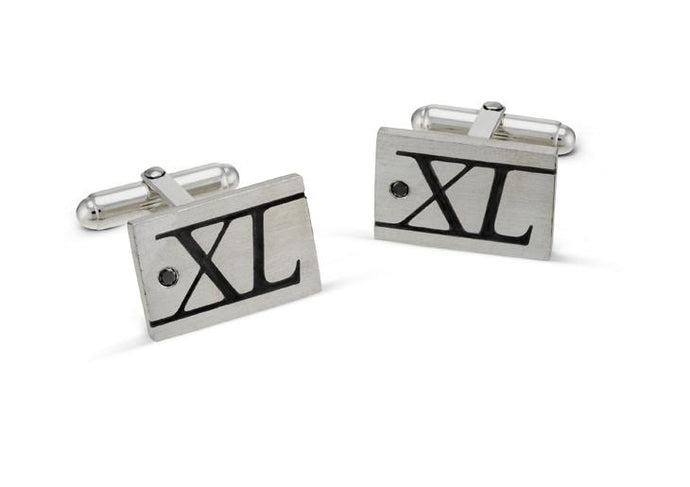 Black Diamond 40th Cufflinks